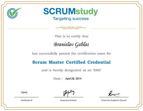 Scrum Master Certified - certificate